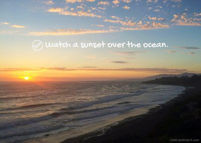 sunset over the ocean - Edited
