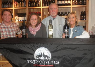 The Thompson family at the Tasting Room