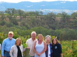 Thompson families at the vineyard.